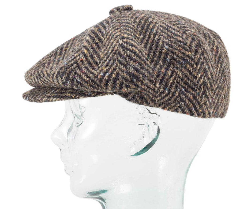 Herringbone Tweed - Fitted Newsboy Cap by Jonathan Richard – Real Irish b404a54d44d