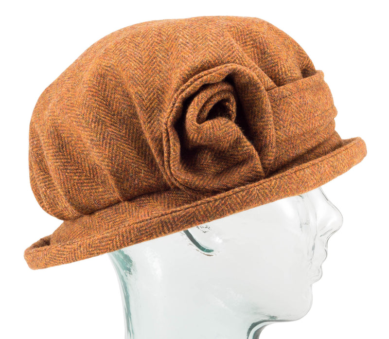 Burnt Umber Downton Abbey Style Ladies Hat