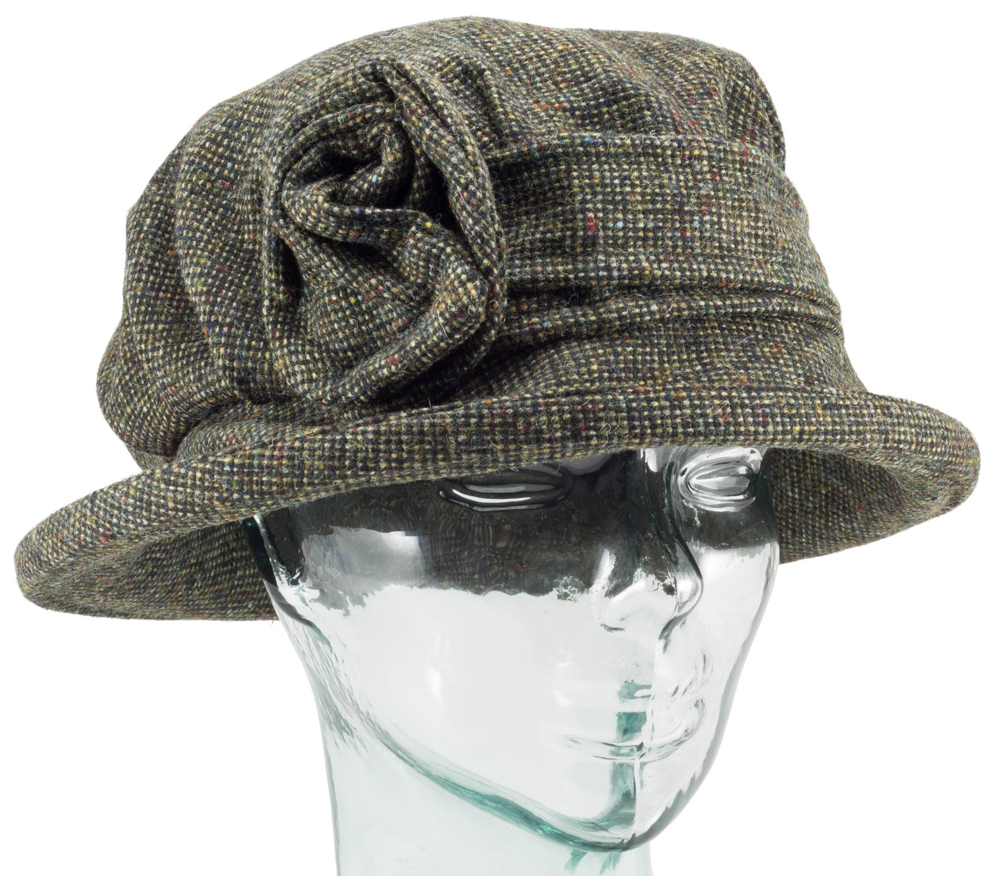 Moss Donegal Tweed Downton Abbey Style Ladies Hat