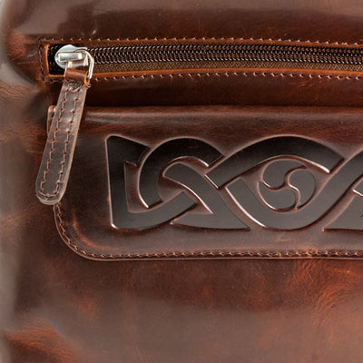 Celtic Embossed Leather Women's Crossbody Bag Made in Ireland