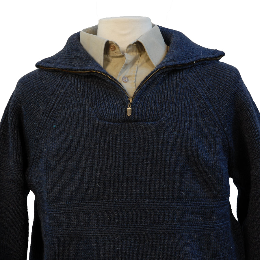 Mens Quarter Zip Irish Wool Sweater
