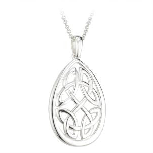 Oval Knot Pendant S/S - S45089