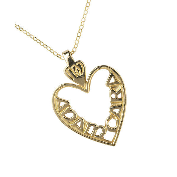 Medium Mo Anam Cara Heart Pendant - 10K or 14K Gold
