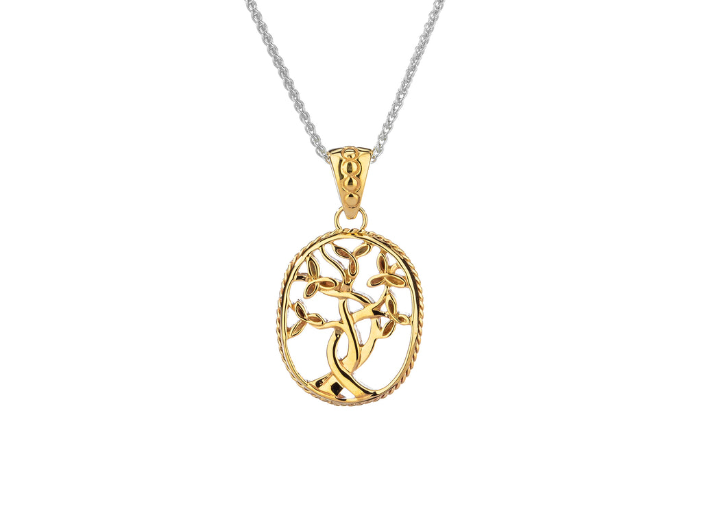 Tree of Life Pendant in 10K or 14K Yellow Gold - Small