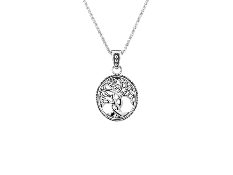 Women's Sterling Silver Tree of Life Small Pendant