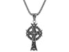 S/Silver Ornate Cross Oxidized Large Pendant