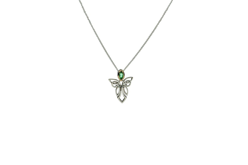 Women's Guardian Angel Pendant - Peridot