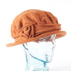 Terracotta Downton Abbey Style Ladies Hat