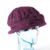 Wine with Bow Downton Abbey Style Ladies Hat