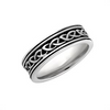 Ladies Oxidized Celtic Knot Band - S21072 by Solvar