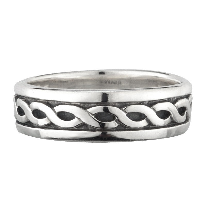 Ladies Celtic Knotwork Narrow Band - S2648 by Solvar