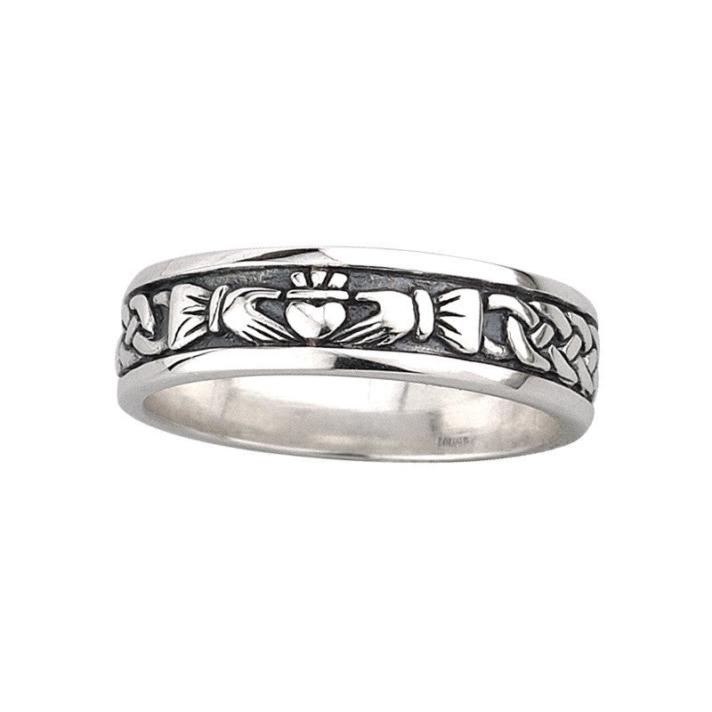 Ladies Claddagh and Celtic Knot Band - S2829 by Solvar