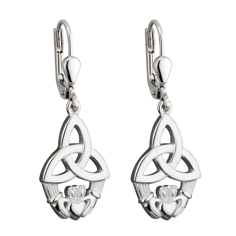 Trinity Claddagh Drop Earrings S/S - S33148