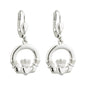 Claddagh Drop Earrings S/S - S33151