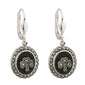 Marcasite Shamrock Connemara Marble Earrings S/S - S33246