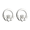 Large Claddagh Stud Heavy Earrings S/S - S3325