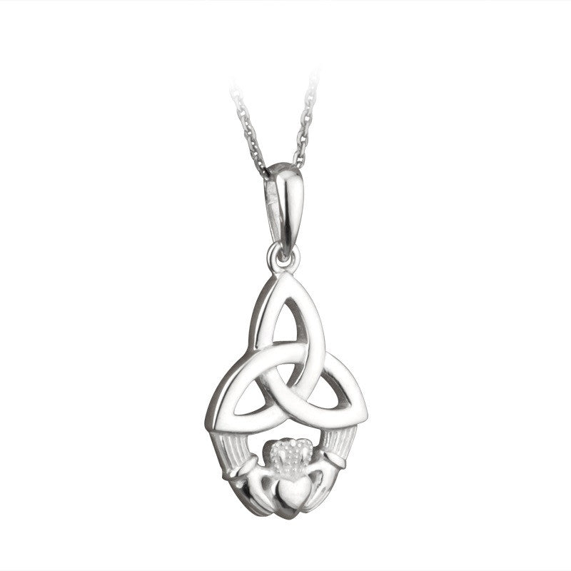 sp claddagh htm larger necklace photo p silver pendant