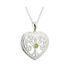 Crystal Heart tree of Life Pendant S/S - S45485