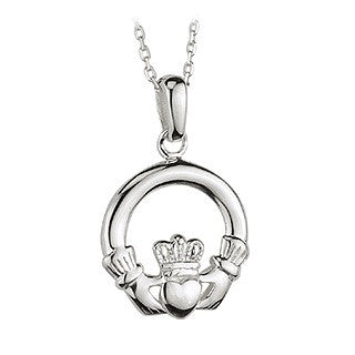 Small Claddagh Heavy Pendant S/S - S4682