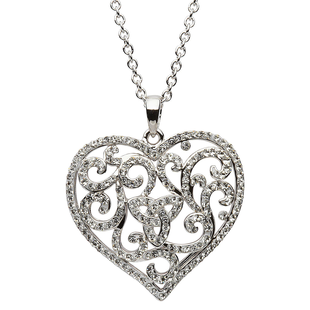 necklace knot lge two trinity cz pendant by and design tone products with celtic claddagh