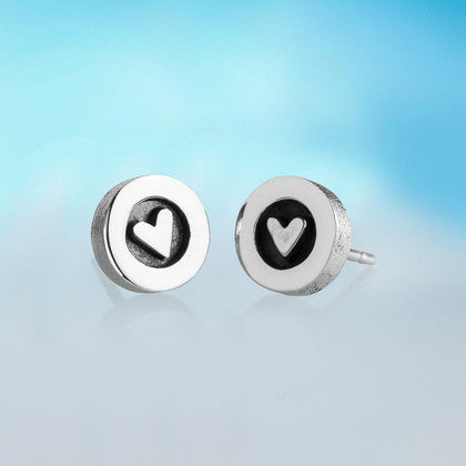 Silver Hearts Stud Earrings by Alan Ardiff