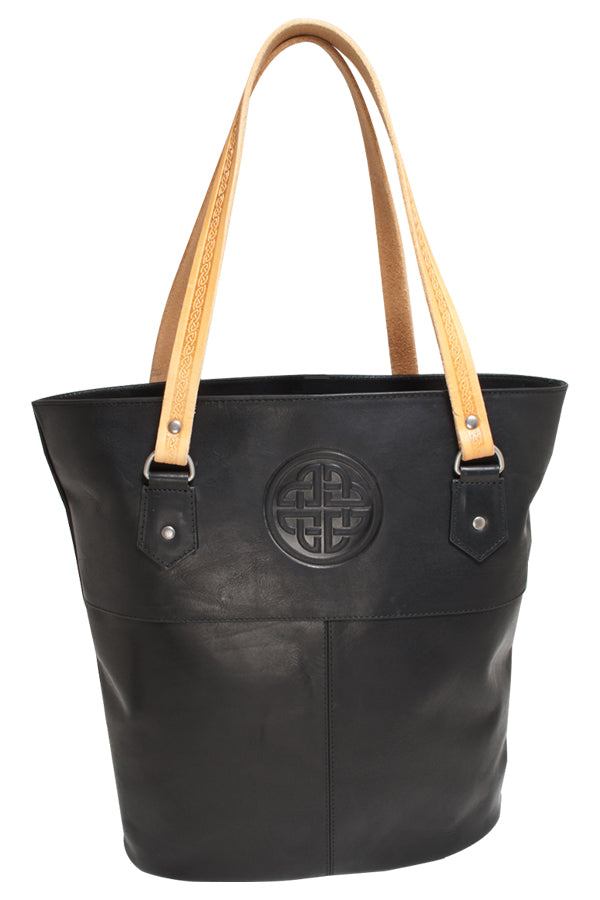 Ladies Leather Tote Bag - Black
