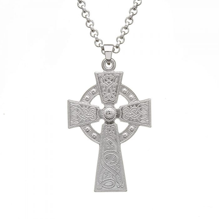 Large Silver Celtic Warrior Cross