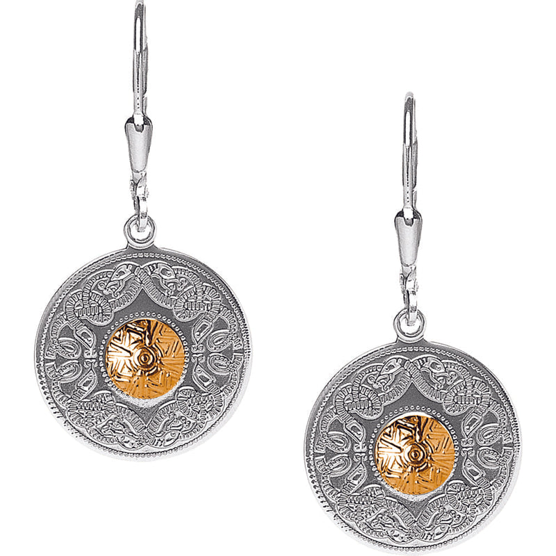 Celtic Warrior Earrings - Small with 18K Gold Bead