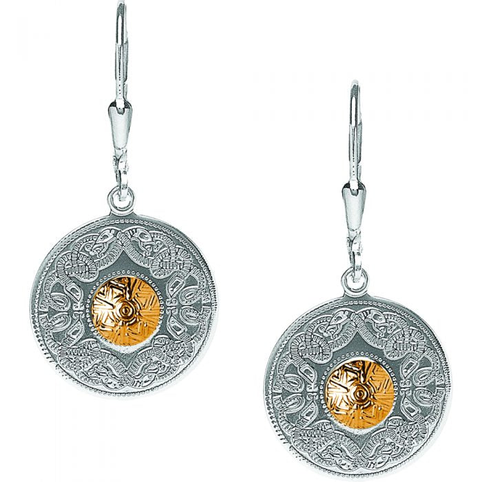 Warrior Earrings with 18K Gold Beading by Boru Jewelry