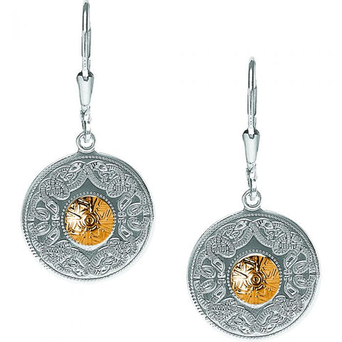 Crystal Claddagh Creole Drop Earrings S/S - S33570