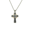 S/Silver and 10K Gold Oxidized Small Celtic Cross Pendant