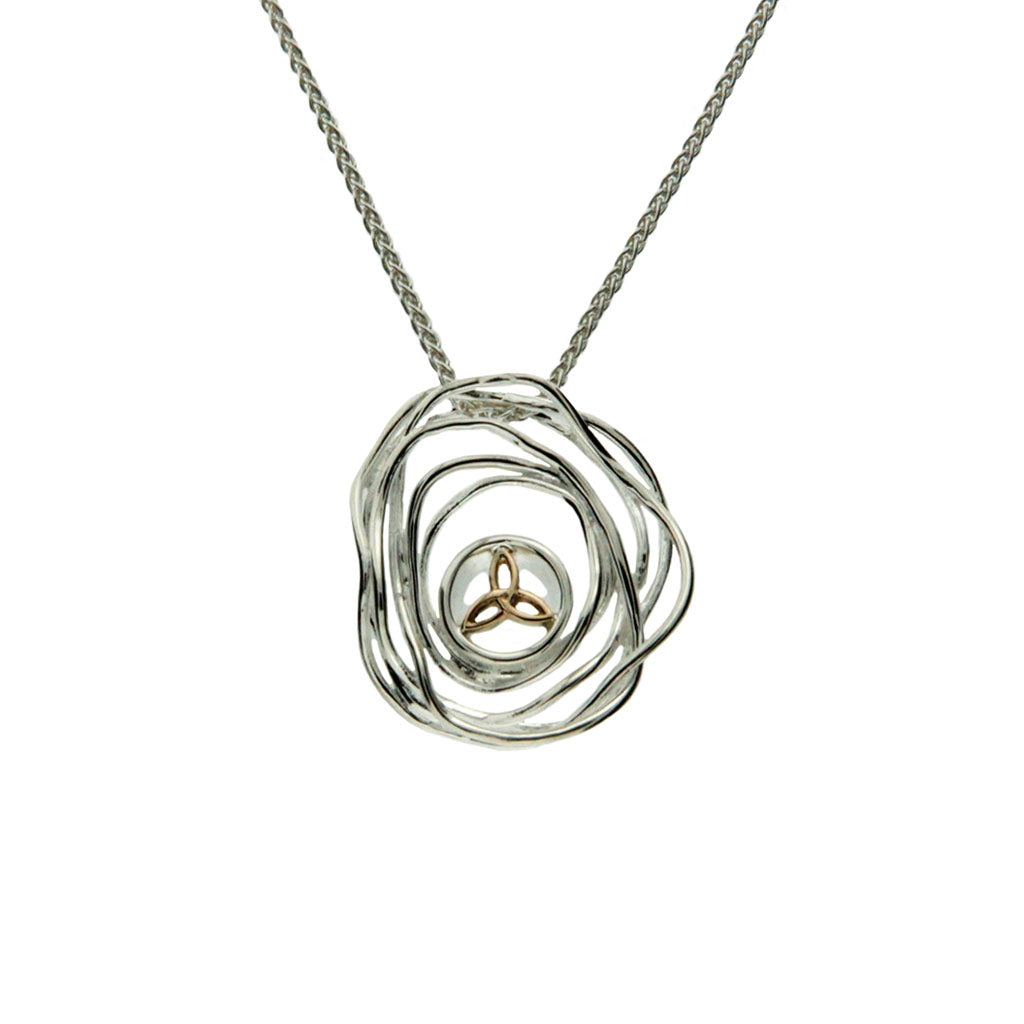 Women's Sterling Silver and 10K Gold  Celtic Cradle of Life Pendant
