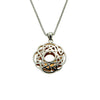 Women's Window To The Soul Scalloped Pendant