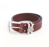 Wide Leather Celtic Belt - Black or Brown