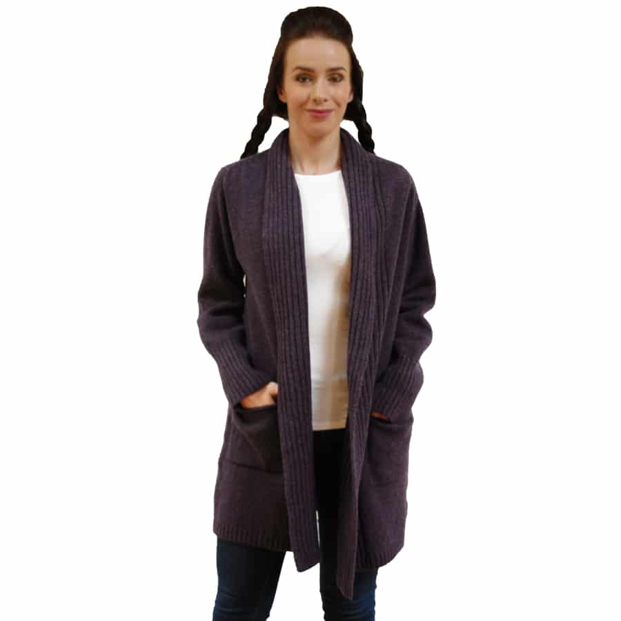 Rib Edge Lambswool Jacket with Pockets