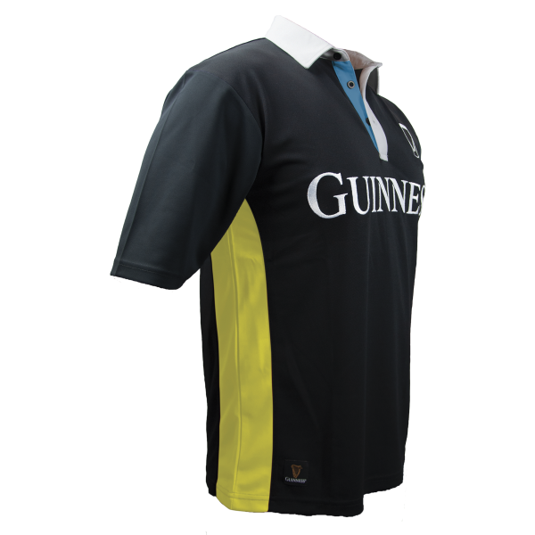 Guinness Black and Yellow Stripe Rugby Jersey - G1020