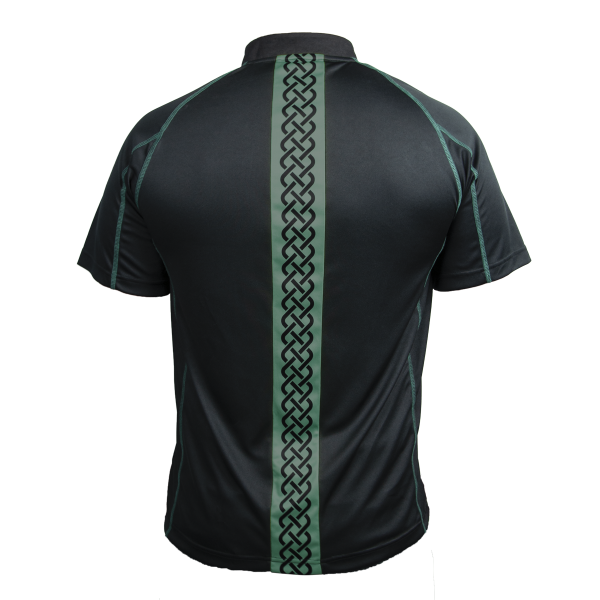Guinness Black and Green Short Sleeve Rugby Jersey - G1021
