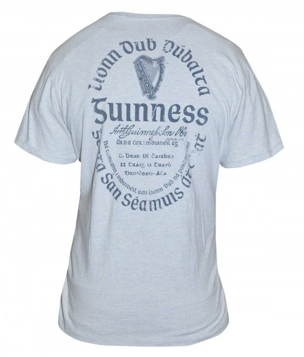 Grey Guinness Gaelic Label T-Shirt