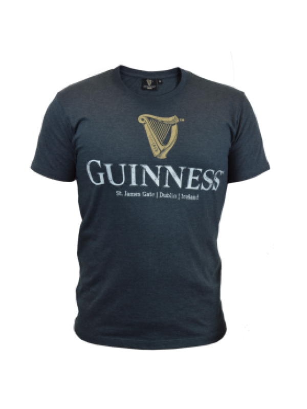 Guinness Navy Distressed Tee - G6074