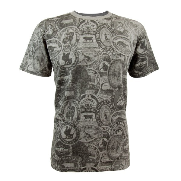 Guinness Premium Vintage Label Grey Tee - GC007