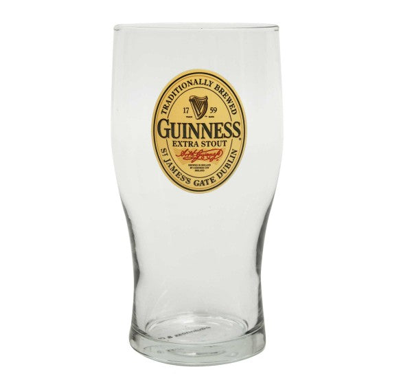 Guinness Oval label 20oz Pint Glass