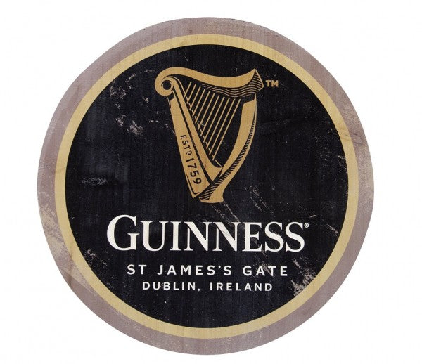 Guinness Harp Wooden Bottle Top Wall Art