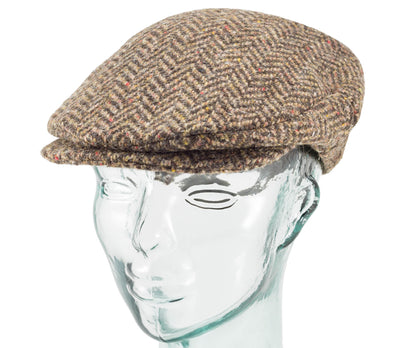 Wide Herringbone Tweed - Vintage Style Cap