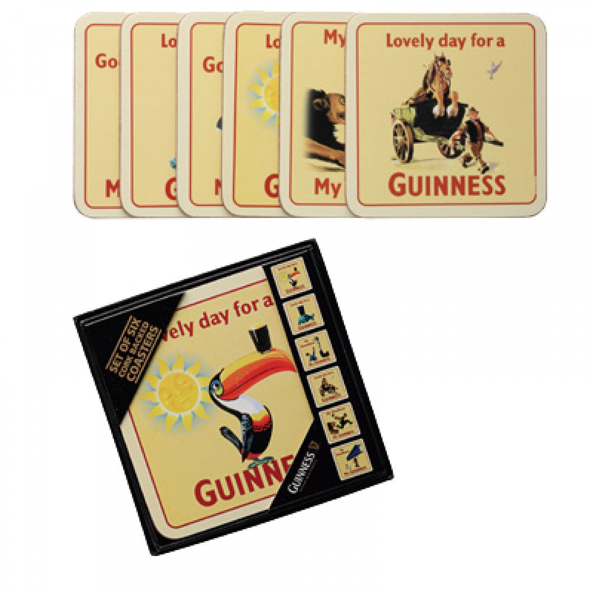 Guinness Cork Based Coasters - Set of 6