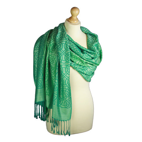Women's Celtic Pashmina Wrap.