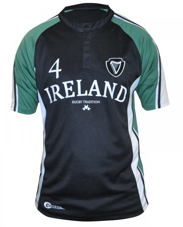 Guinness Croker Brand Navy and Green Rugby Jersey - IR4041