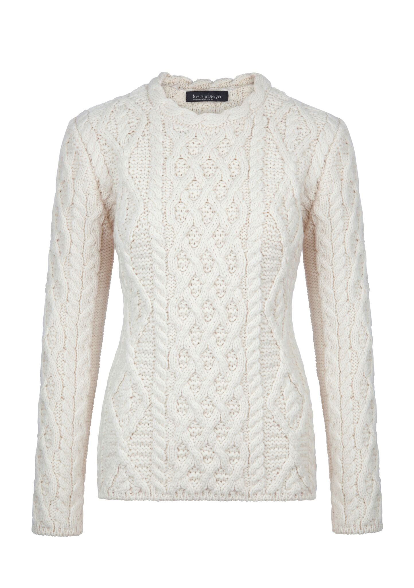 Women's Lambay Lattice Cable Aran Sweater