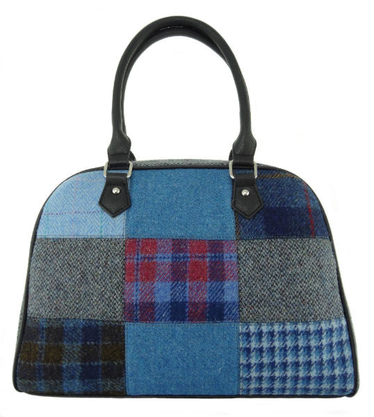 Large Harris Tweed Patch Handbag - Nairn LB1022