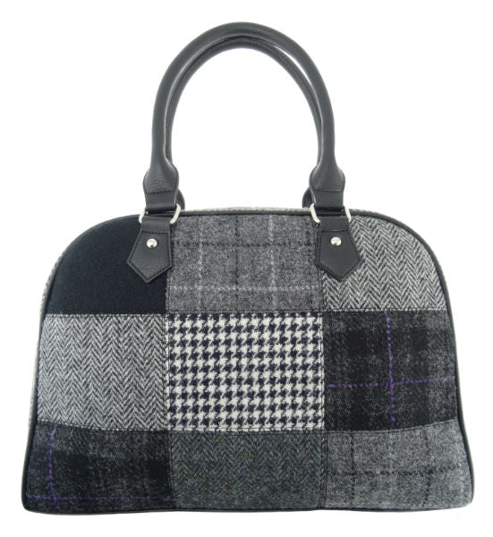 Large Harris Tweed Patch Handbag