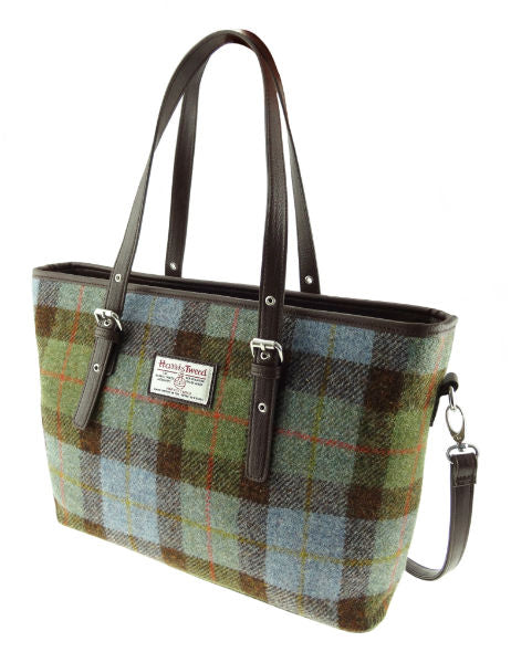 Harris Tweed Large Tote Bag with Shoulder Strap